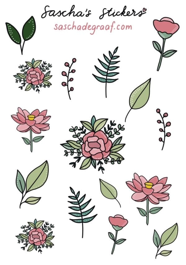 sticker bloemen