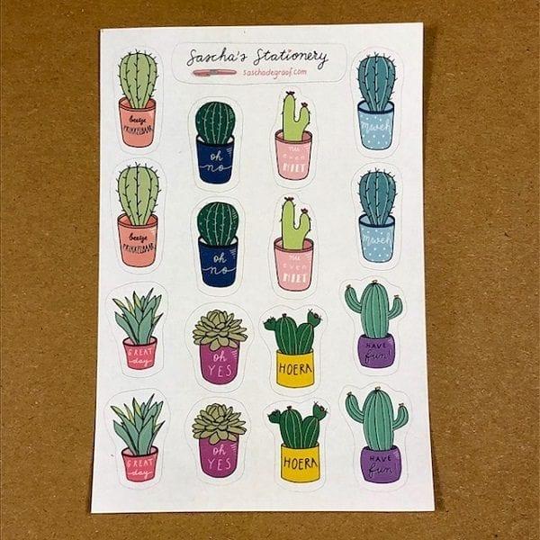 Cactus stickers recht