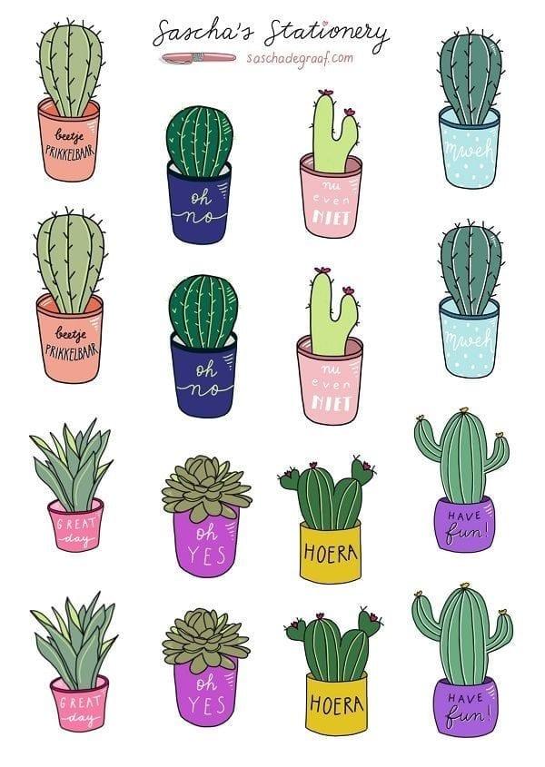 Sticker vel cactus