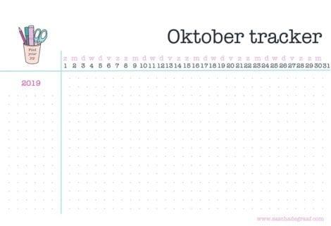 Gratis oktober habit tracker